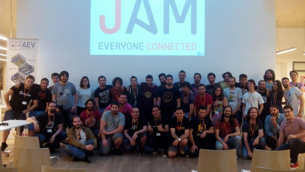 Foto de familia de la III Student Game Jam
